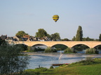 Balloon rising above Amboise
